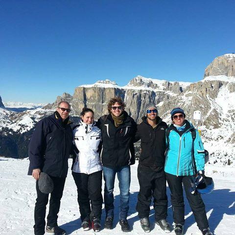 Family at Belvedere peak